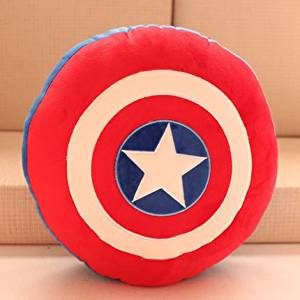 c44fcbb7f509 Get Quotations · Anime American Captain Shield pillow personalized plush  mat cartoon soft plush pillow cute plush toys