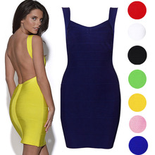 F10098A Europe sexy Bandage dress bandage tight body package hip dress for woman prom dress
