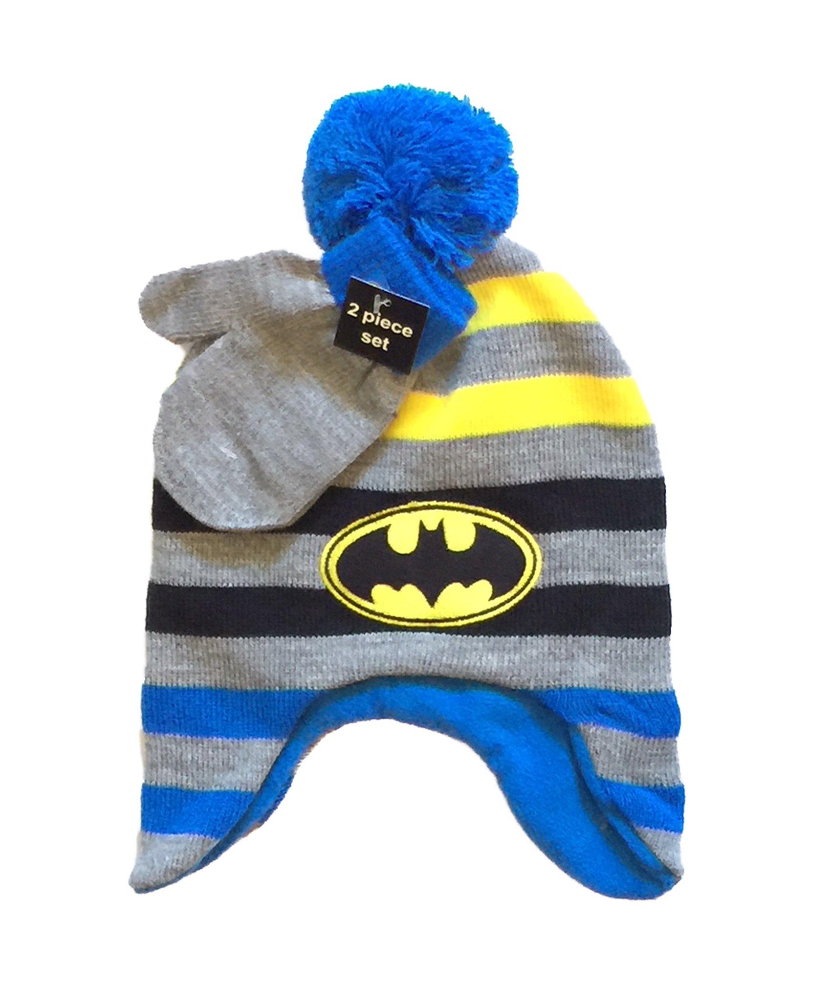 wholesale dealer 6a6dd f97c7 Men s Batman Knit Beanie Hat. Get Quotations · DC Comics Batman Little Boys Beanie  Hat   Mitten Set