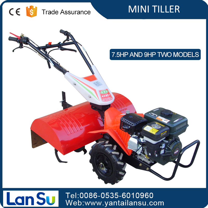 CE gasoline mini tiller mini tractor agriculture rotavator for family use