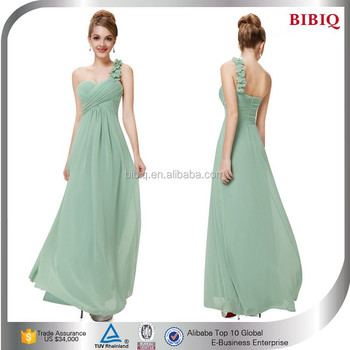 31c69cebaba4 mint green chiffon prom dresses fitted ruched wedding dress empire waist  long flowing dress elegant chiffon