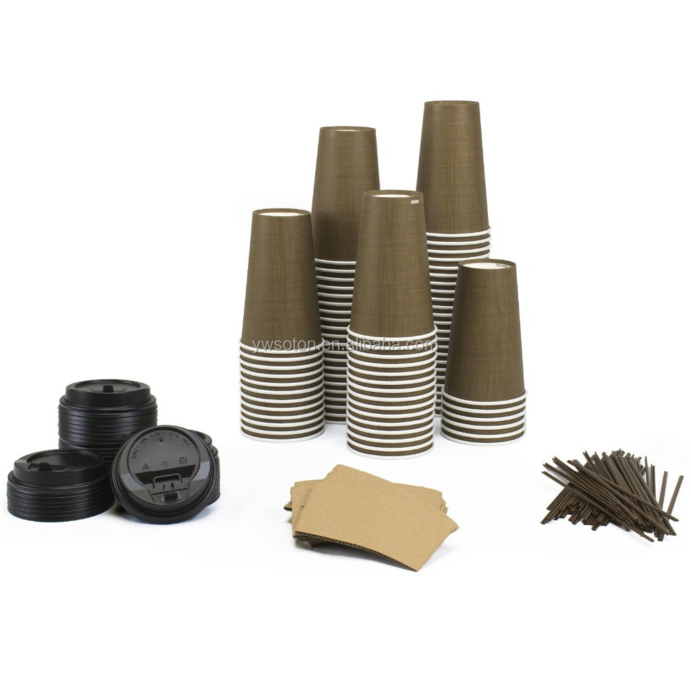 Paper Cups Sets Cups, Lids, Sleeves, Straws Travel Mug Beverage Tea Cup
