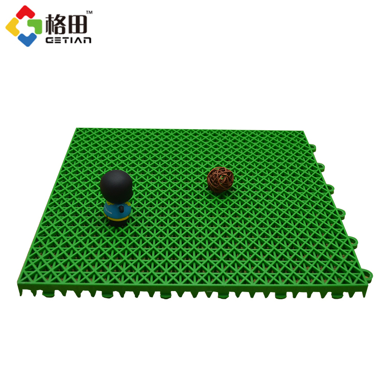 Flexible price pp interlocking synthetic badminton court flooring guangzhou,sport tiles for badminton court