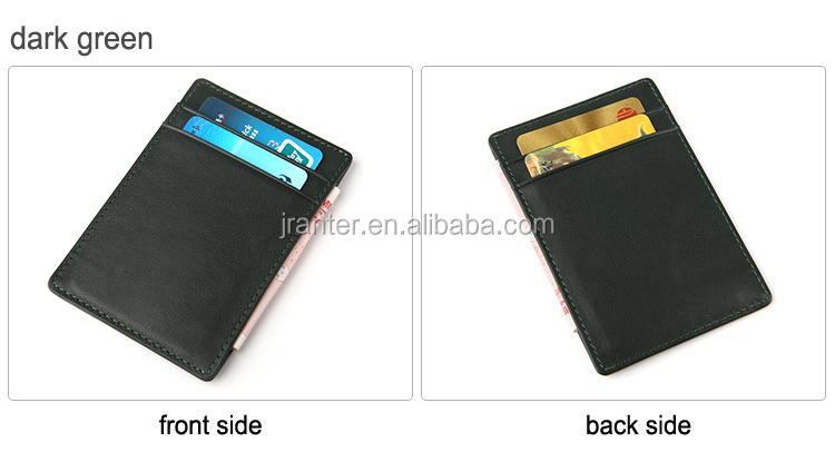 Jranter OEM ODM Genuine Leather Business Card Wallet Card Holder