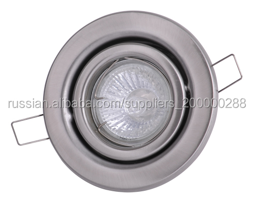 105mm New Style Silver Aluminum LED Ceiling Downlight MR16 GU10 Mounting Ring Trim Housing with adjustable holder