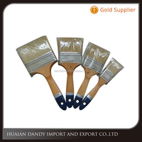 Best price Excellen quality wooden handle bristle hair paint brush eco painting hand tools