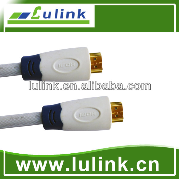 HDMI cable male to male version 1.3 and 1.4 1080p plastic injection shell