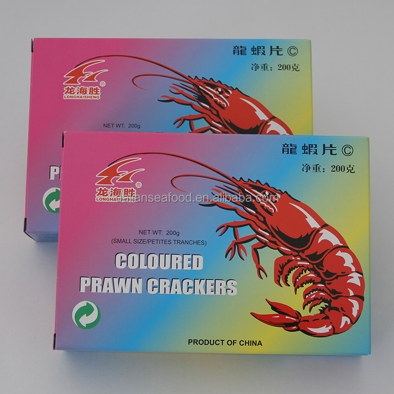 The Manufacturer Crispy Seafood Snacks Colored Shrimp Crackers