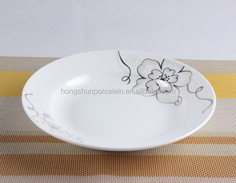 world best selling products/bone china soup plate with gold design