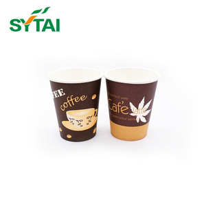 Light weight single wall paper cups for hot drink