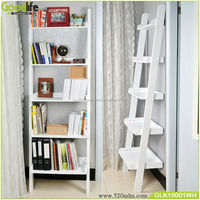 Home furniture high quality wooden Ladder Shelve book shelf
