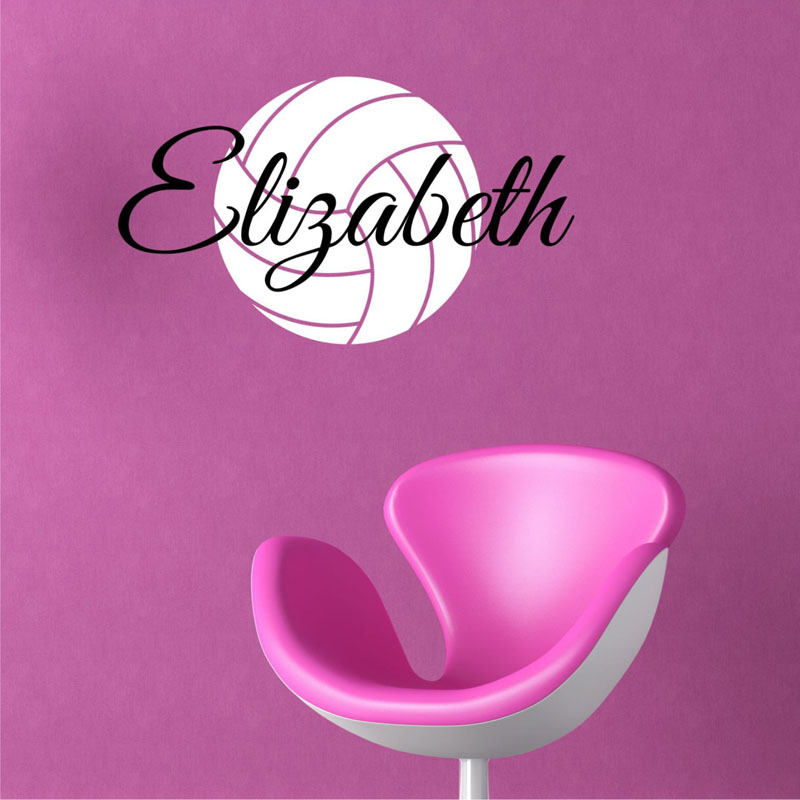 Volleyball Wall Stickers Custom Name Different Color Wall Decals Vinyl Home Decor Creative Stickers