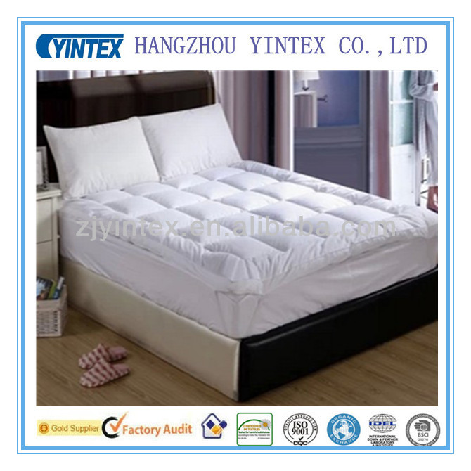 High quality 100% Cotton queen size mirofiber mattress topper,mattress pad