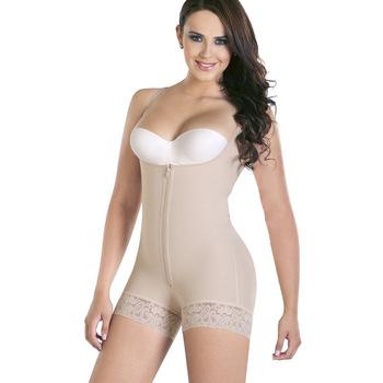6f226132d0 Plus Size Hot Latex Women s Body Shaper Post Liposuction Girdle Clip and Zipper  Body Shaper Waist