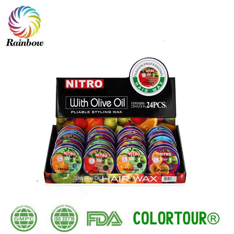 Colorful Fruit Smell Hair Wax Pomade, Fashion Olive Hair Wax