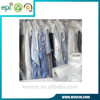 ed72ee1d96e Poly Clear Plastic Hanger Covers Dry Cleaning Bags On Roll For Shirt ...