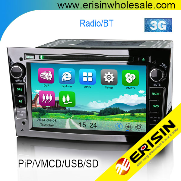 erisin es7681p 7 opel zafira astra h 2 din autoradio dvd gps sistema di navigazione video. Black Bedroom Furniture Sets. Home Design Ideas