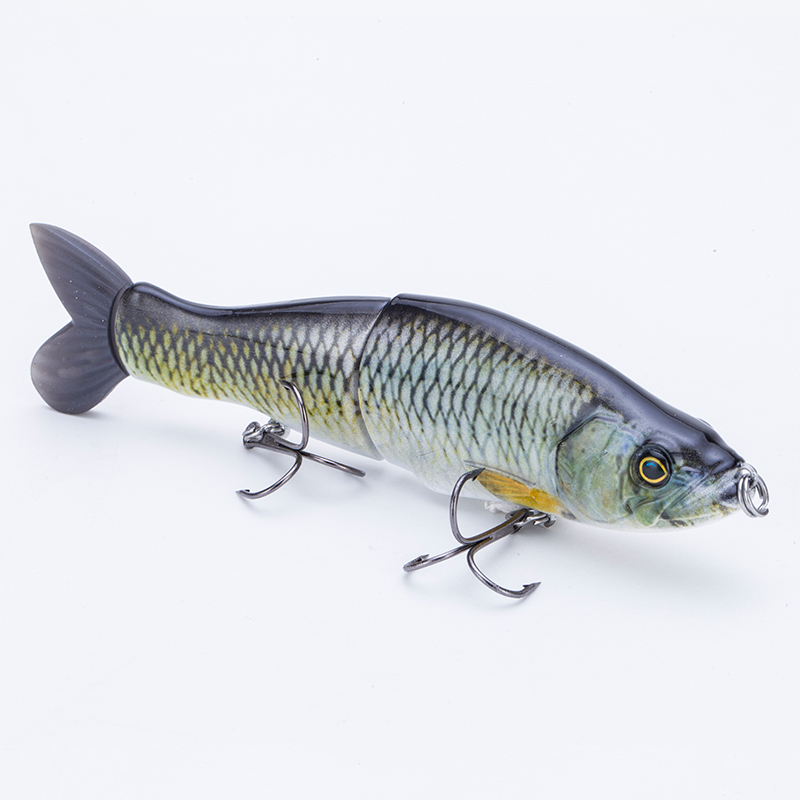 Multi Jointed Segment Swimbait Fishing Lure Set Lifelike Hard Bait Crankbait Treble Hooks 3D Eyes Popper Crankbait Vibe Sinking, Vavious colors