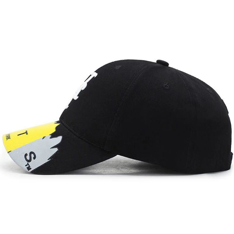 Hot Sale Hip Hop Plain Cotton Material Distressed Black Color Fashion Baseball Customise Snapback Cap