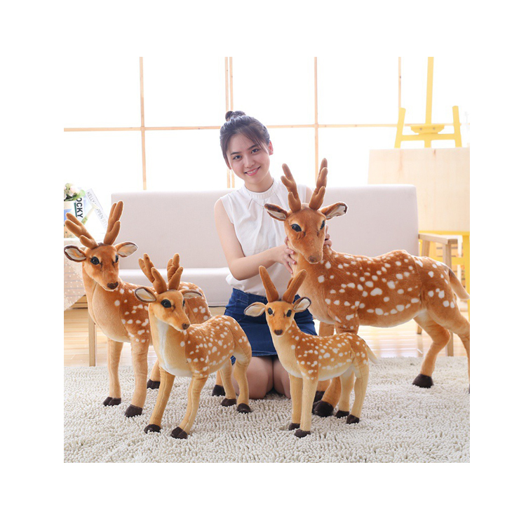 Realistic high quality giraffes plush toy stuffed animals for promotion