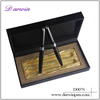 black barrel two silver rings pen set twin pen as gift