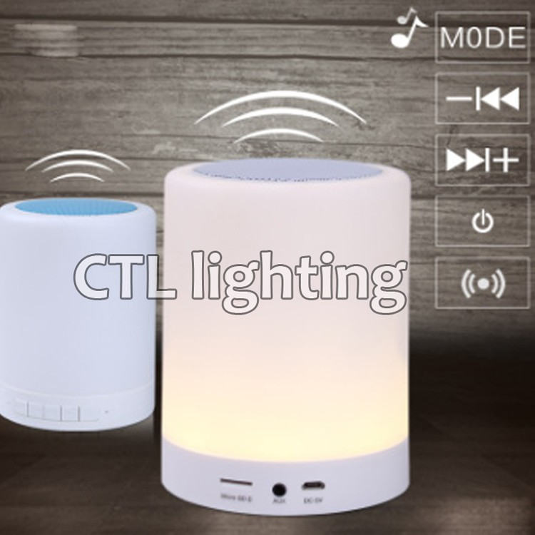 India popular cheap acrylic bluetooth music table lamp restaurant bedroom portable led luminaire table lamp for gifts