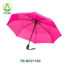 Automatic travel umbrella,durable auto open/close pink rain umbrella