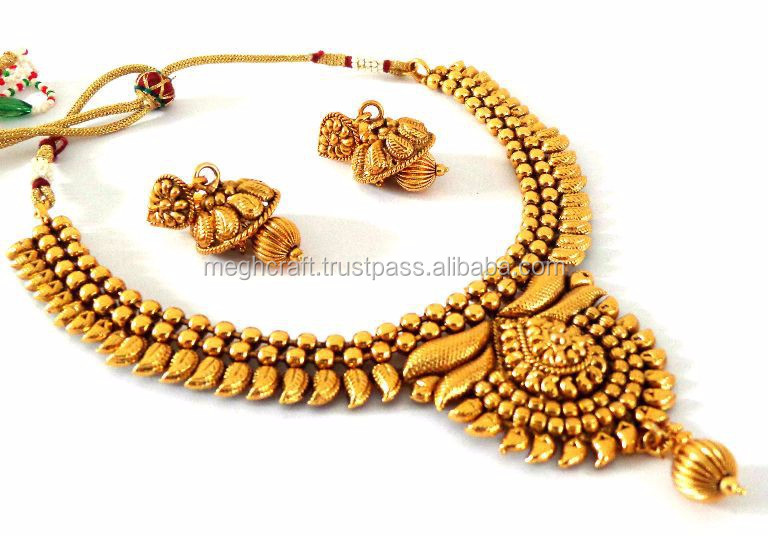 73d704fc29 Bollywood Wedding wear jewellery -South indian one gram gold plated  jewellery -Wholesale bridal necklace set - Indian jewellery