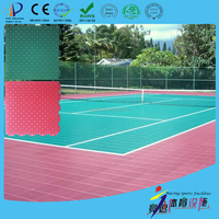 Used waterproof sport court floating floor sale for basketball futsal volleyball tennis hockey badminton skating