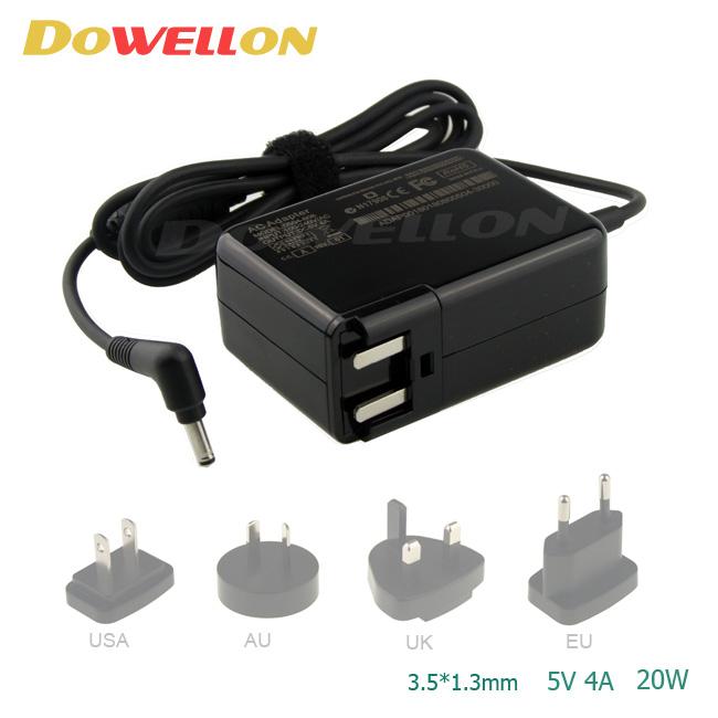 EU/US/AU/UK Wall plug Laptop power supply charger 20W 5V 4A
