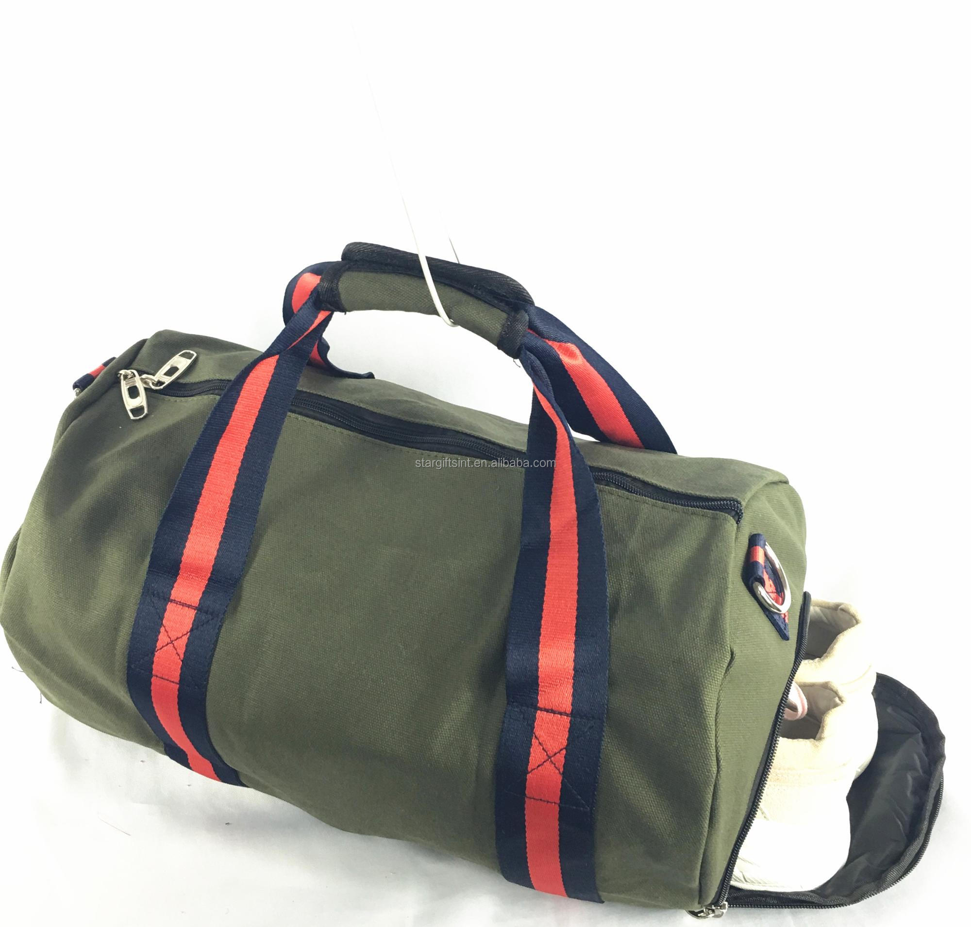 Mens Gym Sports Travel Shoulder Duffle Bag With Shoe Compartment