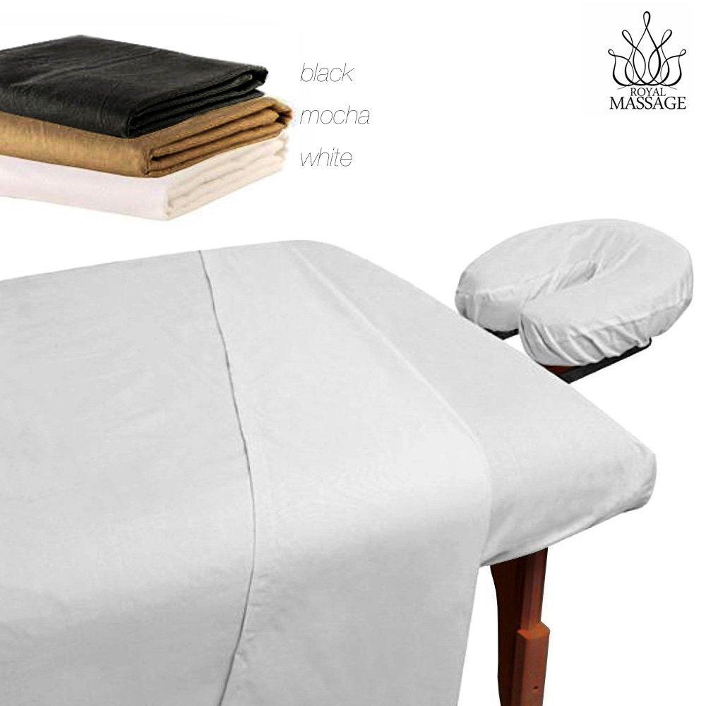 Modern Home Royal Massage 1% Microfiber Sheet Set, Black