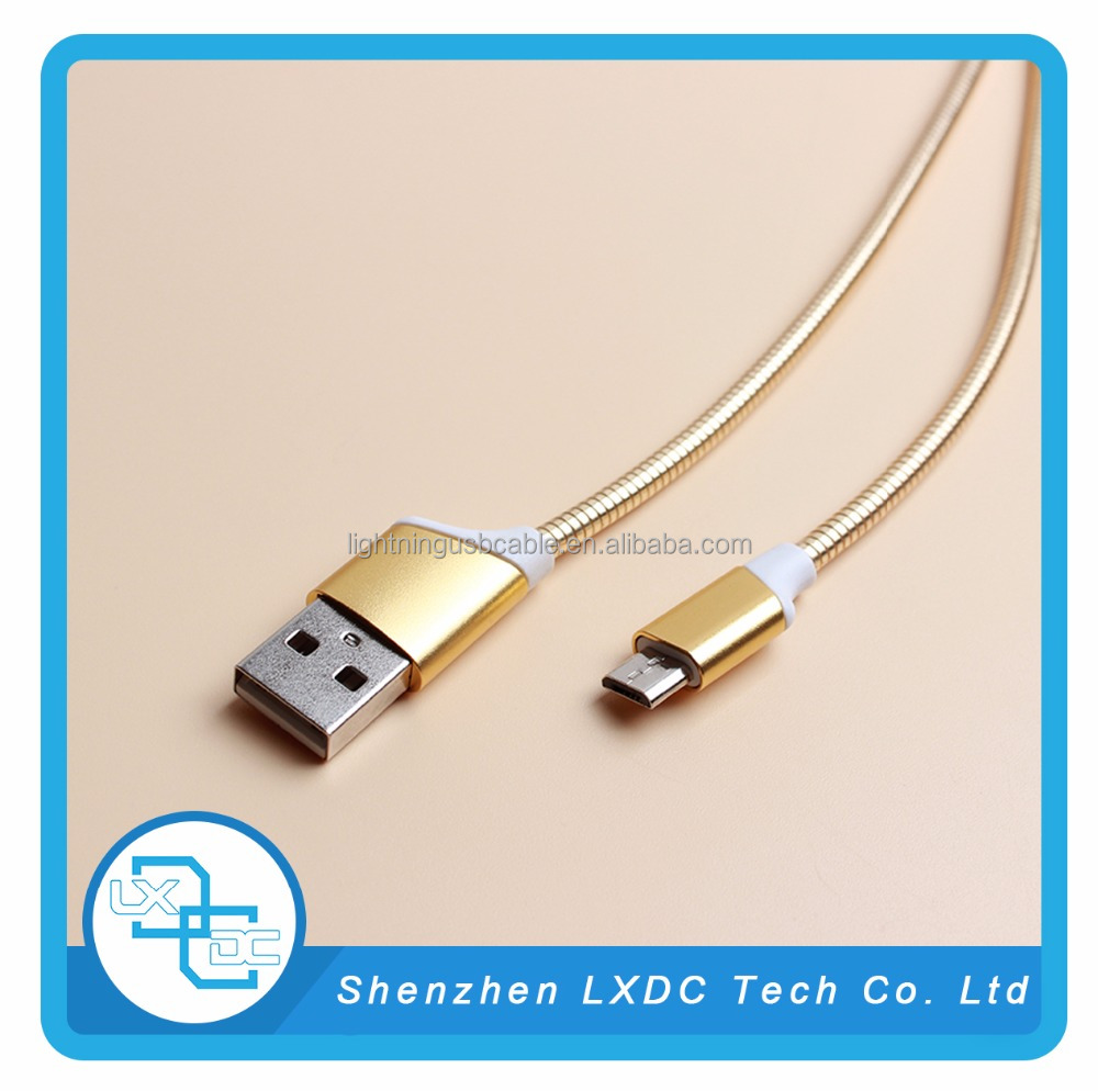 Zinc alloy stainless steel usb data cable,charging for type c devices