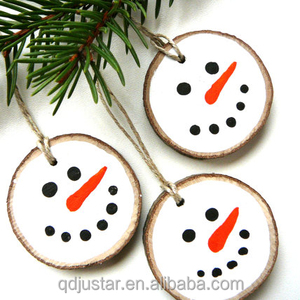 Wooden hanging Snowman Rustic Ornaments for wholesale
