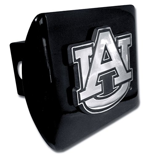 "Elektroplate C210AU1 Auburn University Tigers ""Black with Chrome AU Emblem"" NCAA College Sports Metal Trailer Hitch Cover Fits 2"" Auto Car Truck Receiver"