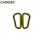 china factory hot sell popular Flattening small carabiner shaped D carabiner