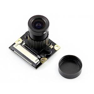Angelelec DIY Open Sources Sensors, RPI Camera (F), Support Night Vision, Adjustable-Focus, Raspberry Pi Night Vision Camera, Supports All Revisions of the Pi, 5 Megapixel OV5647 Sensor, 4 Screw Holes