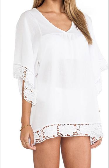 301bba1b5e Buy Beach Cover Up Summer Style Swimsuit Kimono White Flower Lace Kaftan  Beachwear Swimwear Women Bathing Suit Cover in Cheap Price on m.alibaba.com