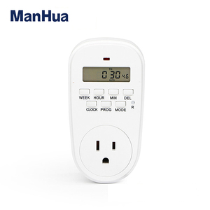 Manhua TG-10EG New Supply 125V 15A 24 Hours Electrical Socket Timer