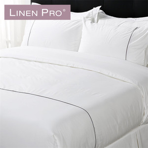King Size Crib 4 Piece Bedding Flax Bed Sheets White Bedding Set/Bed Linen