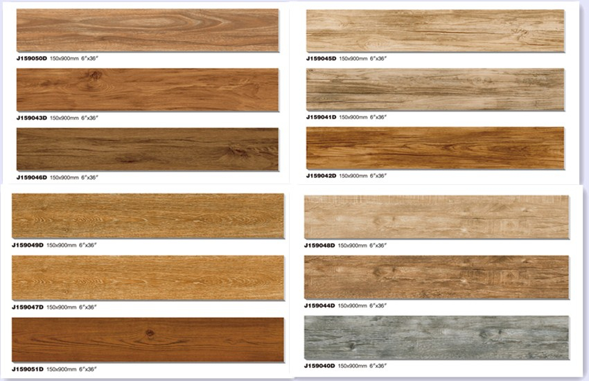 High Quality 3d Ink Jet Wood Tile Wooden Floor Tile Wood Design Ceramic Floor Tile 200x1000