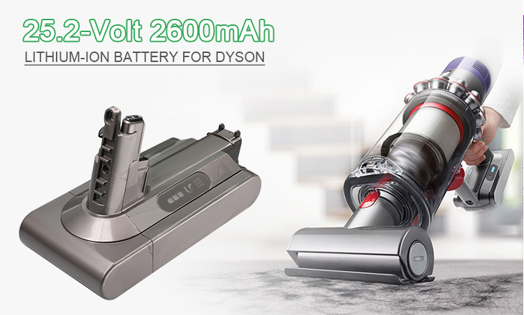 The Newest 25.2V 2600mah 3000mah Replacement V10 Battery