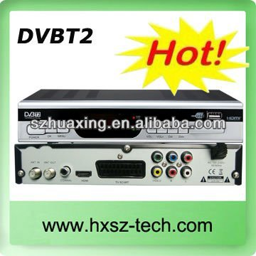 DVB-T2 HD set top box with smart card mpeg4 decoder