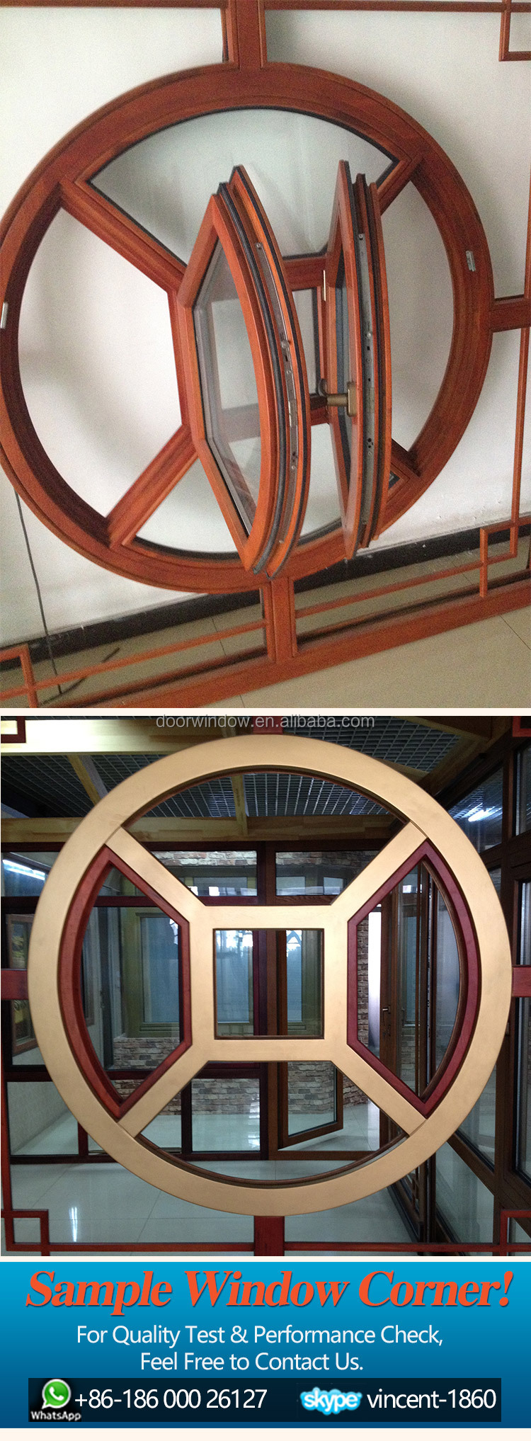 oval octagon round opening Window with Grille Design