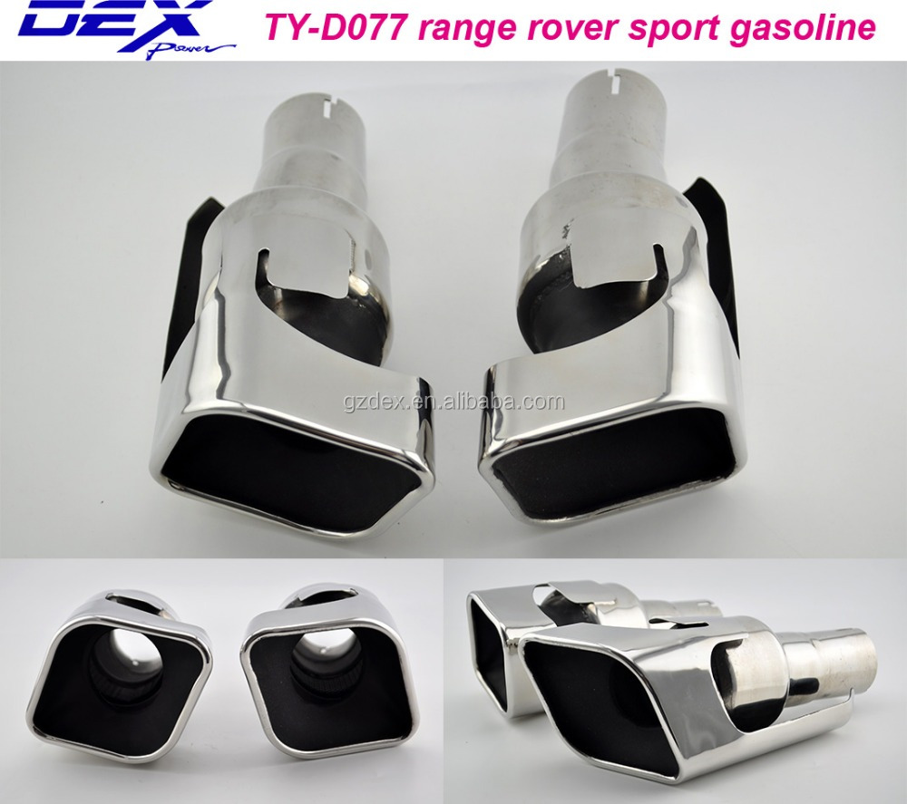 hot sale factory price stainless steel car parts exhaust muffler tip for Range-Rover sport