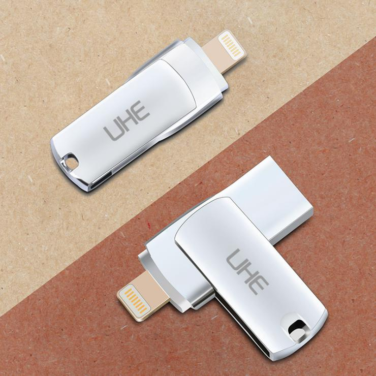 Wholesale 2 in 1 16GB Aluminium Alloy MFI Usb And Lighting <strong>Flash</strong> For iphone 8