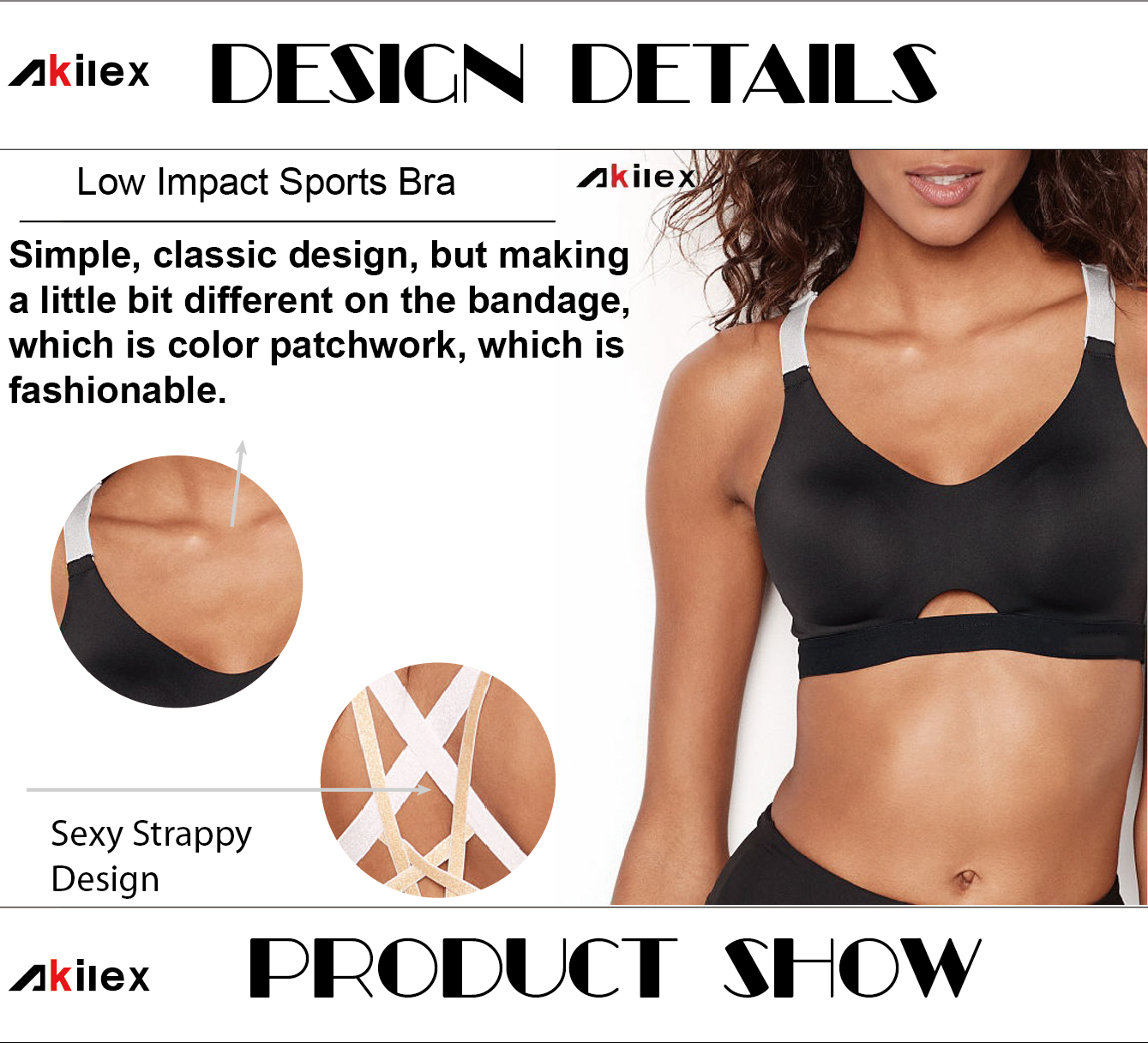 Low MOQ Active Wear Strappy Fitness Yoga Top Womens Bulk Buy High Quality Sports Bra