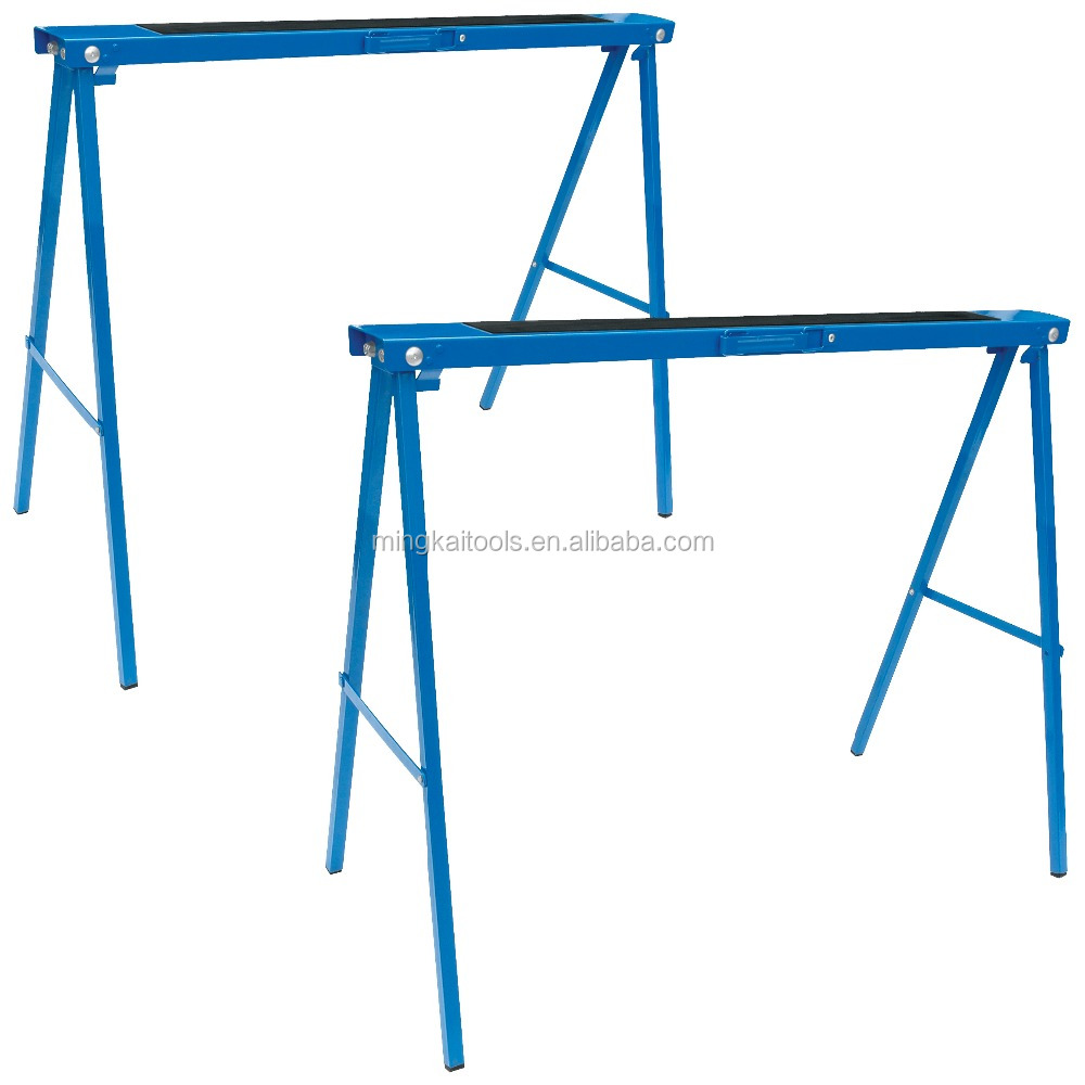 Metal 250kgs capacity foldable sawhorse,Steel Workbench