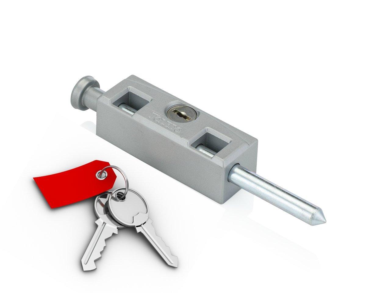 TOLEDO LOCKS'S BEST TDP02S Sliding Glass Door Patio Lock