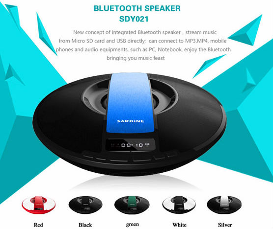 2014 Hot New Professional speaker/ wireless bluetooth speaker with Alarm clock/ FM / MIC / USB/ TF Bluetooth speaker SDY-021